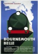 Vintage Poster Bournemouth Belle Rail Train 1933